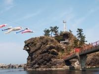 弁天岩と鯉のぼりs.jpg