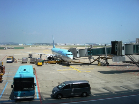 乗ってきた飛行機
